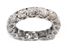 A DIAMOND ETERNITY RING BY THE GILDED LILY