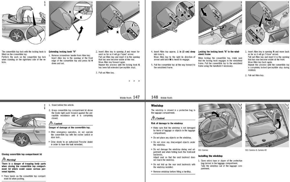 purely manual operation of 04 996 cabrio roof rennlist porsche rh rennlist com Porsche Boxster Cdc-3 Manual 2013 Porsche Boxster Owner's Manual