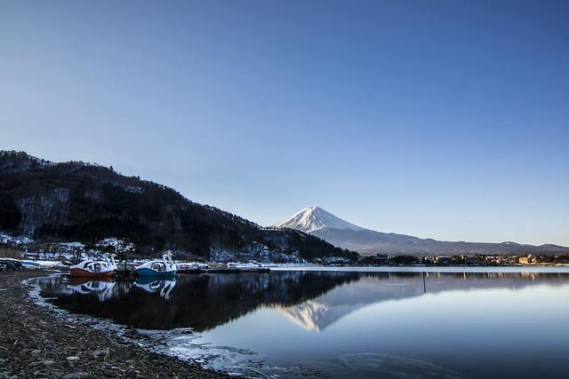 河口湖-逆富士