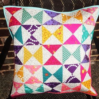"20"" hourglass pillow complete!!! So happy with how this came out!"