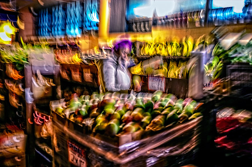 outdoor market produce shopper - mission district - san francisco by joeeisner