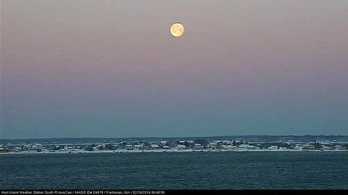 "MOONSET AFTER THE STORM - The Ultimate ""SNOW"" Moon! by MLBaron westislandweather.com"