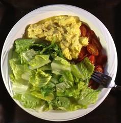 meal, salad, vegetable, leaf vegetable, food, dish, cuisine, caesar salad,
