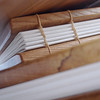 coptic bound wooden journal / notebooks