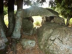 Le dolmen de Tremeca vu de l'arrière