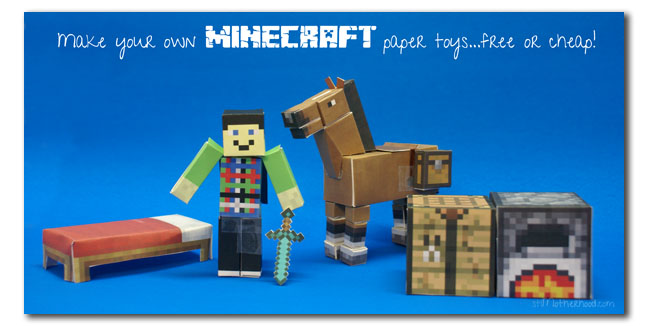 minecraft paper toys for free or cheap