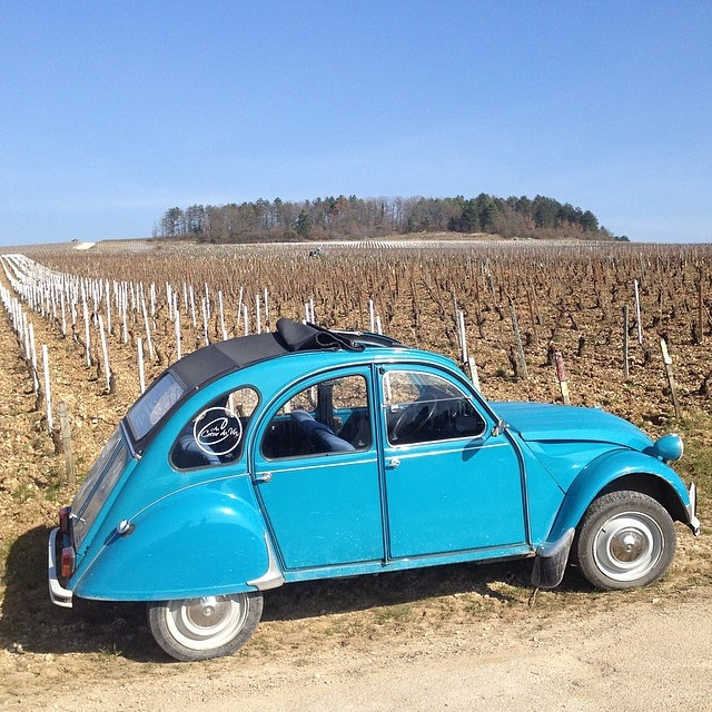 My tour guide through the vineyards of #Chablis has one sweet ride. #gjb2014