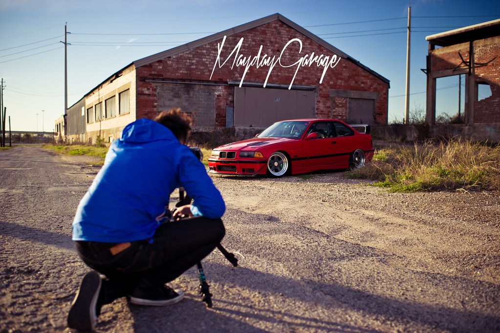 JZ shoots Cody's E36 for Bimmer Mag before getting kicked out.