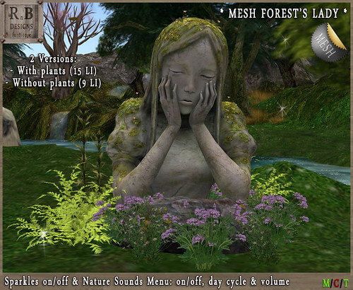 PROMO 55L ! *RnB* Mesh Forests Lady Statue - Sounds & Sparkles -