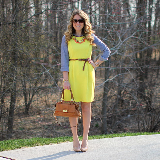 Layered Yellow Dress spring outfit idea
