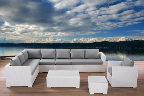 white wicker sectional patio furniture