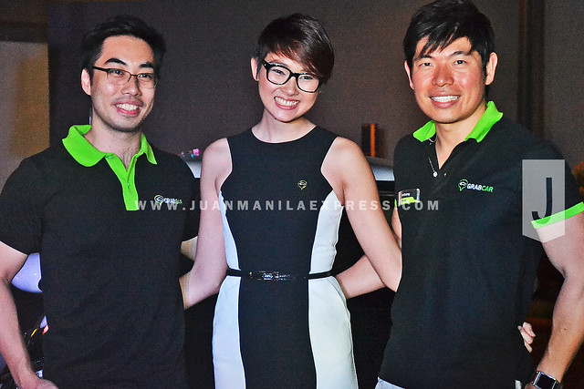 BOARD OF DIRECTORS. With Anthony are (from left) Brian Cu, co-founder of GrabTaxi Philippines; and Natasha bautista, Marketing Vice President and Assistant General Manager of GrabTaxi Philippines.