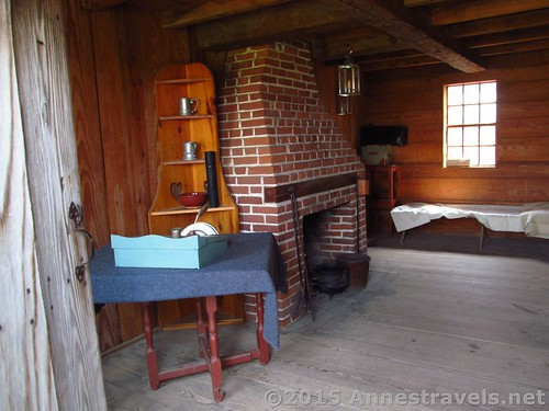 An officer's room at Fort Stanwix National Monument, New York