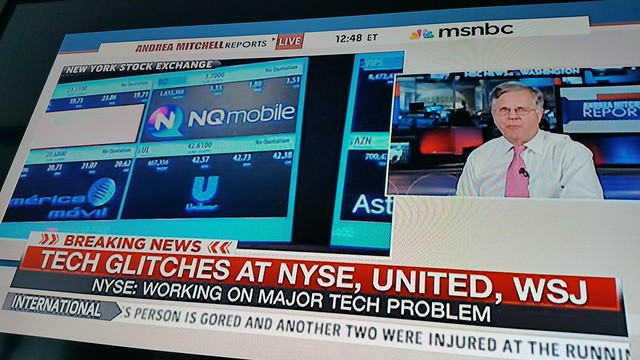 tech glitches nyse united wsj