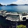 Langara Island Lodge docks on change-over day.
