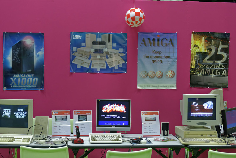 Amiga booth in the Retro Computing area at gamescom 2015