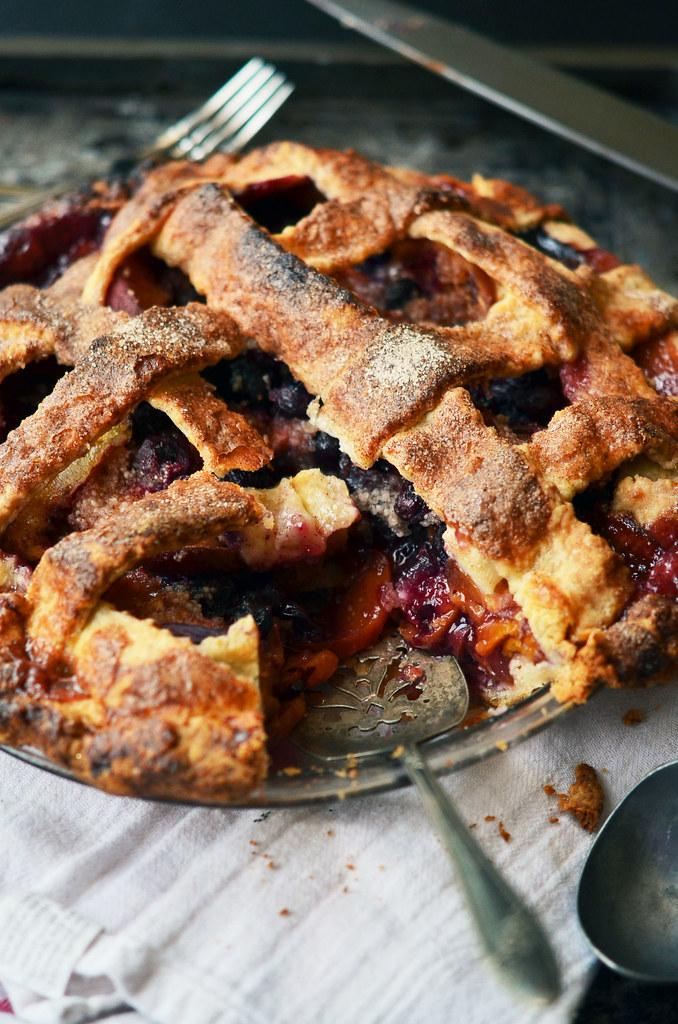 Peach Blueberry Pie | Fork Vs Spoon