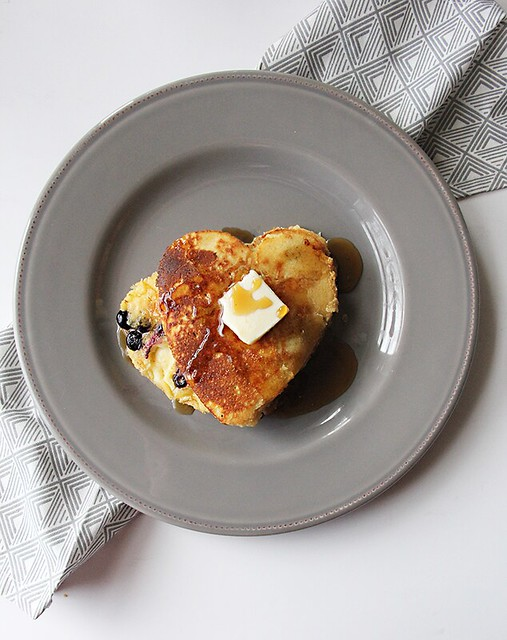 Blueberry Cornbread Griddle Cakes