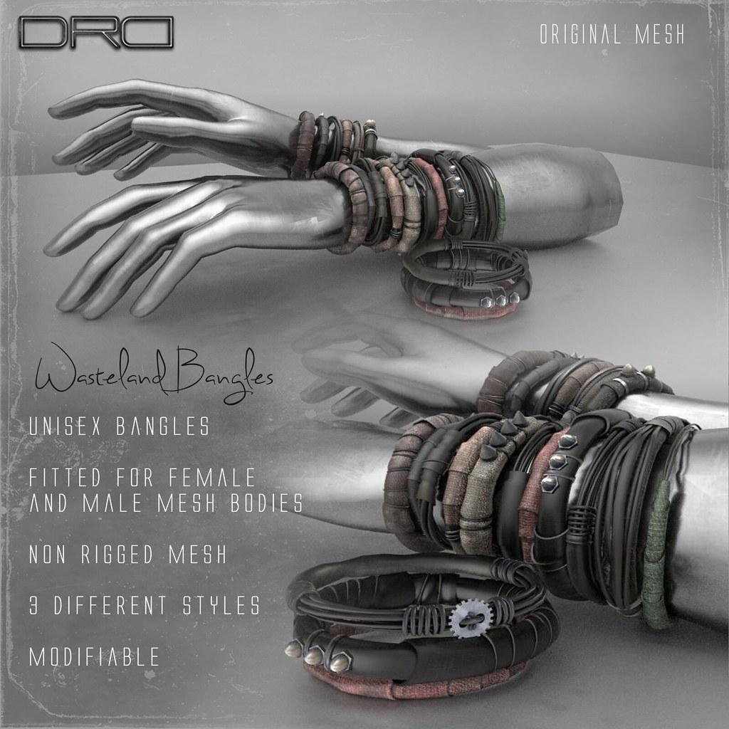 DRD wasteland Bangles - SecondLifeHub.com