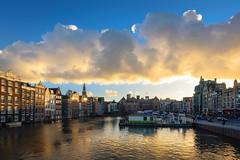 Clouds over Damrak, Amsterdam
