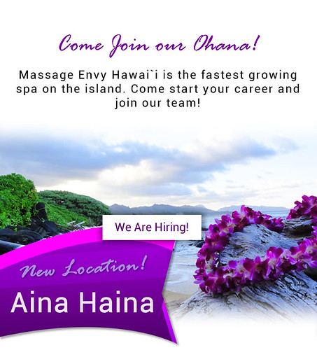 Get Up and Start your career with Massage Envy Hawaii  🙌🌺💪👍