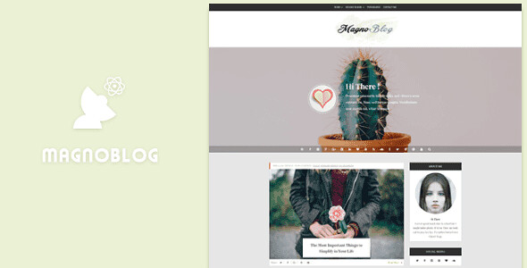 Magnoblog WordPress Theme free download