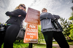 THE PARK CLOSES AT SUNSET!