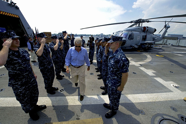 SECDEF Visits USS Freedom in Singapore