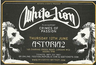 06/12/08 White Lion/ Crimes Of Passion @ Astoria 2, London, England