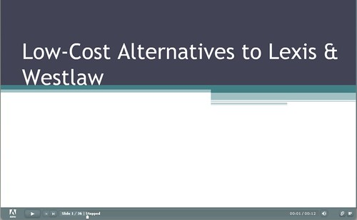 low cost alternatives to Lexis and Westlaw