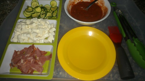 Grilled pizza mise en place by christopher575