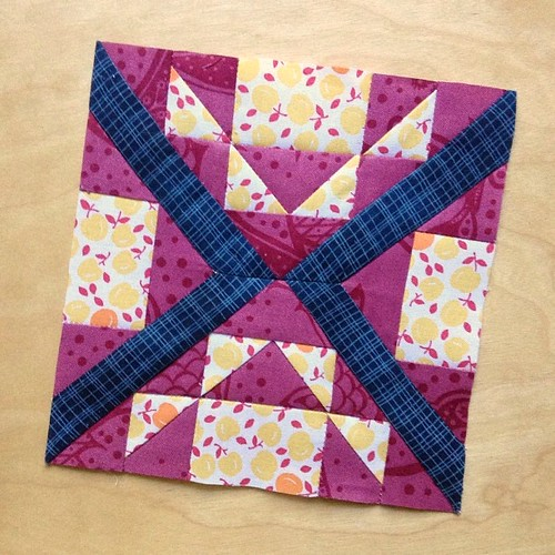 Redo of block 36 flower garden path for #farmerswifequilt