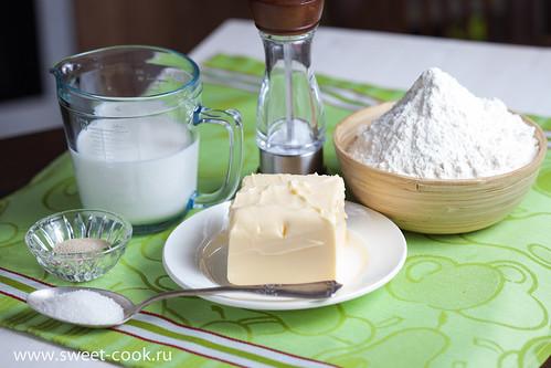 Ингредиенты для домашнего слоеного теста