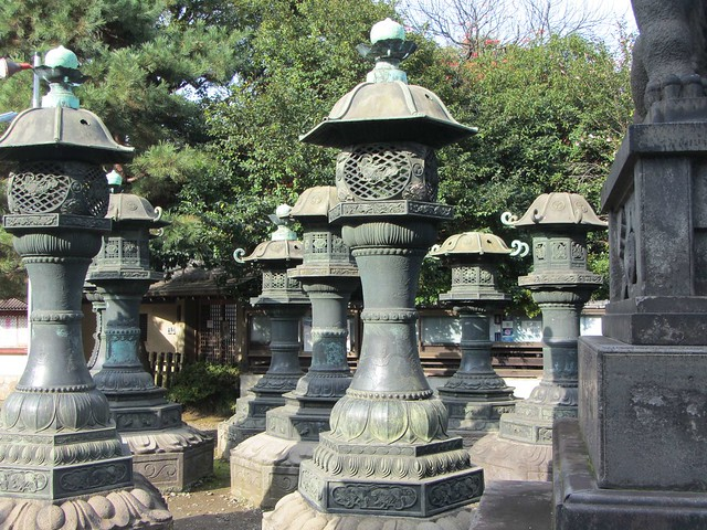 Giant Stone Lanterns at Ueno