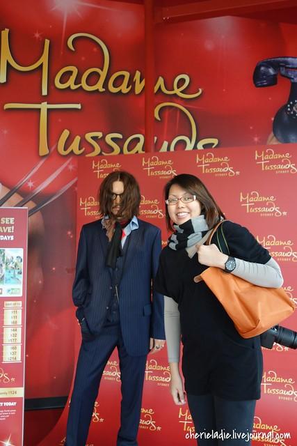 Johnny Depp & Cindy at Madame Tussauds, Sydney