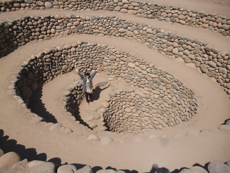 Spiral blow holes at Nasca channels