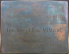 Photo of Ian Jones bronze plaque