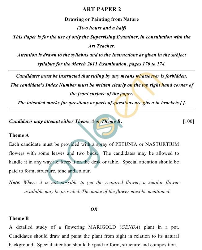 ICSE Class 10Art Sample Papers II