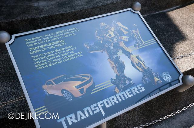 Universal Studios Singapore - Chevrolet Camaro / Bumblebee info board