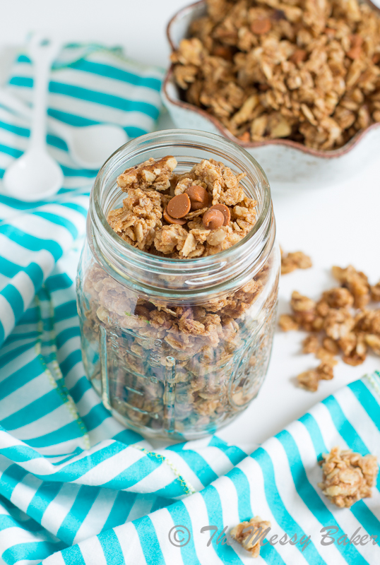 Cookie Butter Cinnamon Chip Granola | www.themessybakerblog.com-8396