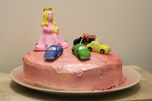 een prinses een auto een tractor