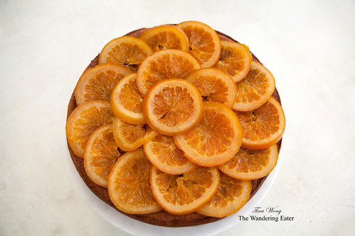 Bruleed orange polenta cake