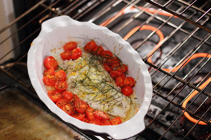 Sunday Dinner: Bake Turbot with Cherry Tomatoes and Fennel