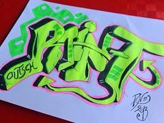 Textmarker-Graffiti