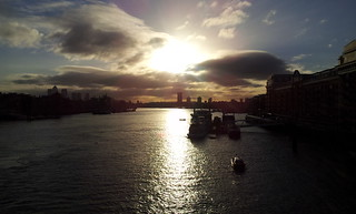 The Thames at sunrise