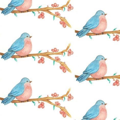 Watercolor birdie