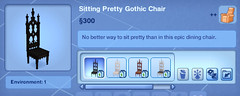 Sitting Pretty Gothic Chair