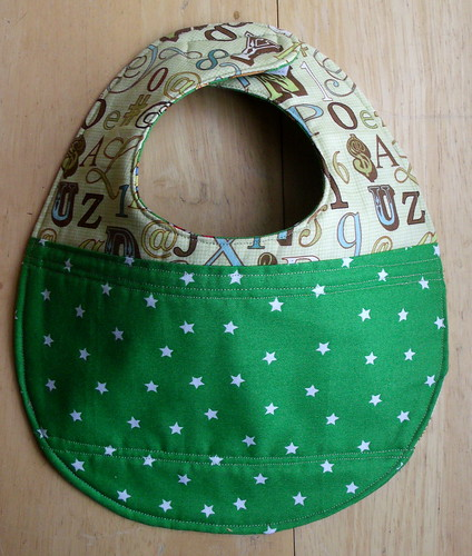 Reversible Patchwork Bibs
