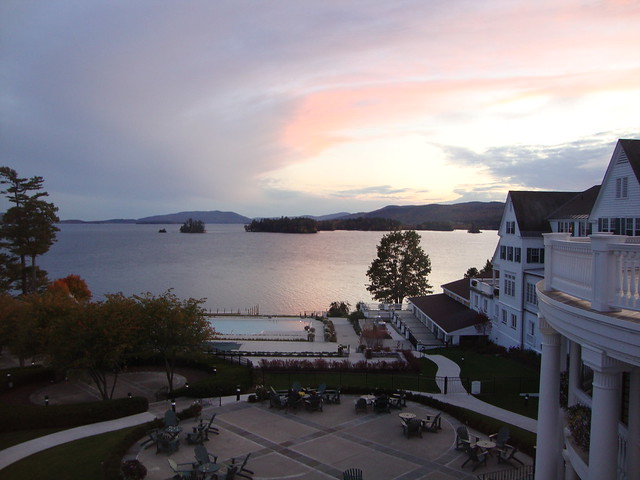 Lake George sunset view from room
