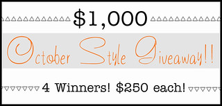$1000 October Style Giveaway